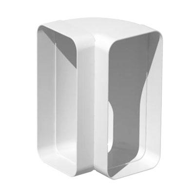 Unelvent - Conduit/accessoires PVC plats coude vertical 90° CVR200  55x110 - UNELVENT 833646 150x150px