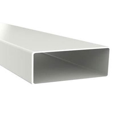 Unelvent   Conduit plat TPR 300 en PVC rigide rectangulaire 55 x 220 mm de 1 5 m de long mâle mâle - UNELVENT 833617 150x150px