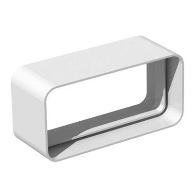 Unelvent - Conduit/accessoires PVC plats raccord rectangulaire femelle/femelle  MCR 300 55x220 - UNELVENT 833658 150x150px