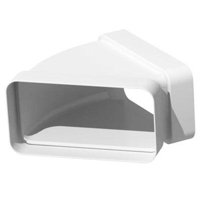 Unelvent - Conduit/accessoires PVC plats coude horizontal rectangulaire 45° CHM 300  55x220 - UNELVENT 834085 150x150px