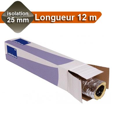 Gaines Aluminium  Ø 80, isolation 25 mm, Longueur 12 m pour réseau de VMC, laine de verre, ALGAINE ALDES - ALDES 11091184 150x150px