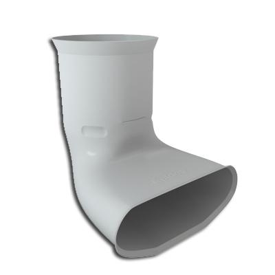 Optiflex Raccord mixte coudé ovale D90  - ALDES 11091897 150x150px