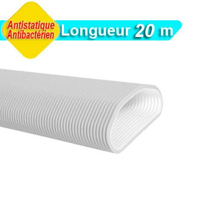 Conduit Optiflex ovale circulaire antistatique et antibacterien longueur 20 m - ALDES 11091857 150x150px
