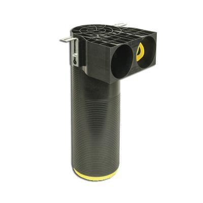 Manchette 2 piquages Optiflex coudée à 90° en PEHD, 2 piquages Ø 90mm, Ø 125mm - ALDES 11091997 150x150px