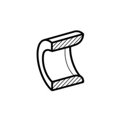 Mousse acoustique pour grille extérieure entrée d'air hygroréglable EHT  - ALDES 11014123 150x150px