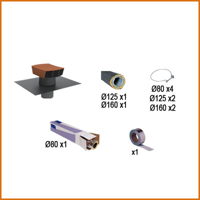 PACK CONDUITS ISOLÉS (24 m) VMC simple flux hygroréglable pour 1 cuisine et 2 sanitaire. Maison jusqu'à 120 m2   150x150px