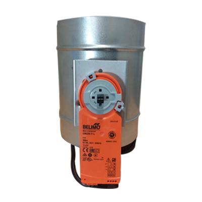 Registre galva Ø 125 mm motorisé 230 V pour réseaux de distribution d'air 150x150px