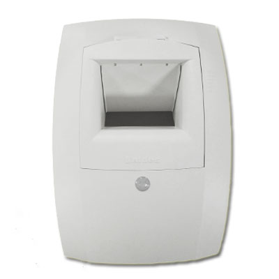 ALDES-Bouche bain et WC communs Hygroréglable et détection de présence BAHIA curve L 12-70/70 Ø125mm. 150x150px