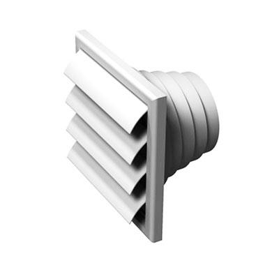 ALDES - grille de rejet d'air en plastique avec volets anti retour VPA 186x186  - ALDES 11001500 150x150px