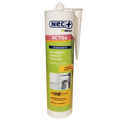 NEC+ Mastic acrylique blanc cartouche de 310 ml 150x150px
