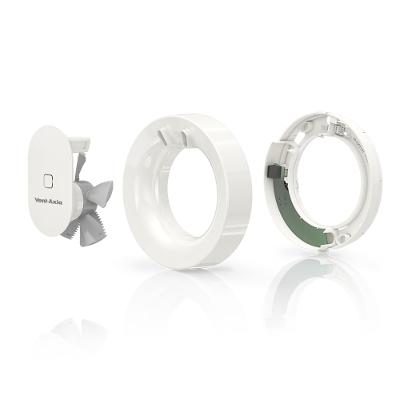 VENT-AXIA-Aérateur SVARA, connecté via Vent-Axia connect app, spécial salle de bain, sélection automatique de la vitesse en fonction de l'humidité et de la présence dans la pièce ( 3 débits d'aération 30/60/110 m3/h). - 400x400px