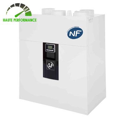 S&P FRANCE- Centrale VMC double flux IDEO 325 ECOWATT FL basse consommation. Débit d'air 325 m3/h Garantie 3 ans.  150x150px