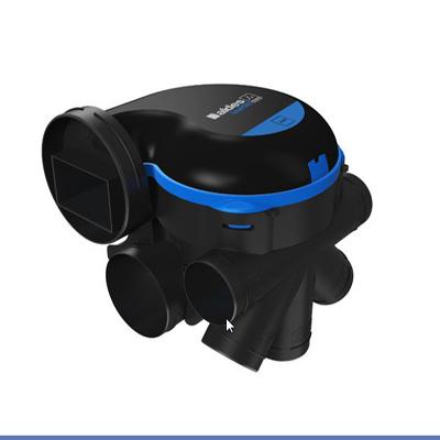 ALDES-KIT EasyHOME HYGRO Premium MW HP groupe haute pression pour grandes maisons, moteur basse consommation + Bouches Bahia Curve à commande électrique ( 1 cuisine, 1 Bain et 1 wc).Prévoir 1 pile 9v pour la bouche cuisine et la bouche WC.  150x150px