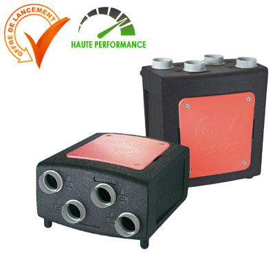 VORTICE-CENTRALE VMC double-flux PROMETEO-HR 400.Echangeur haut rendement, moteur basse consommation.  150x150px
