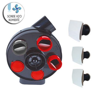 VORTICE KIT PENTA H2O autoreglable avec sondes d humidite permet de raccorder jusqu à 5 sanitaires et 1 cuisine vendu avec 2 bouches sanitaires et 1 cuisine  150x150px