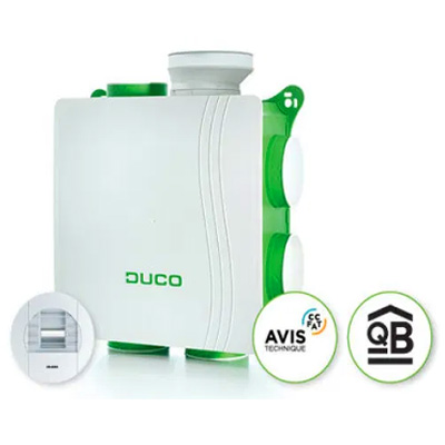 Kit VMC avec accessoires simple flux Kit DucoBox Silent FR HY DUCO 0000 4590 150x150px