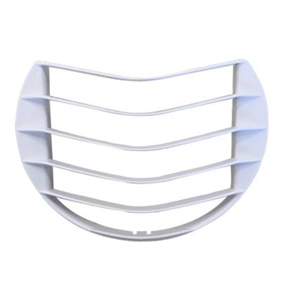 ANJOS  Grille blanche pour façade bouche Alize autoreglable  150x150px