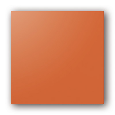Plaque design ColorLINE couleur Paprika, pour support de plaque ColorLINE Ø80 OU Ø125. 150x150px