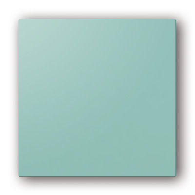 Plaque design ColorLINE couleur Bleu Lagune, pour support de plaque ColorLINE Ø80 OU Ø125. 150x150px