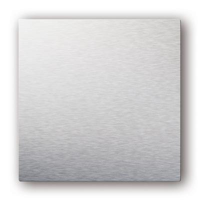 Plaque design ColorLINE collection Natural couleur Aluminium brossé , pour support de plaque ColorLINE Ø80 OU Ø125. - ALDES 11022172 150x150px