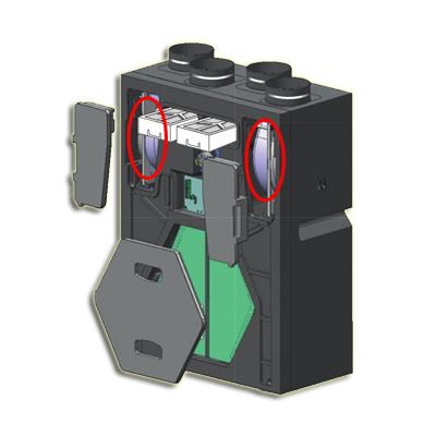 kit 2 moteurs de rechange + 1 carte mère pour VMC double flux Domeo 210 FL filaire - UNELVENT 163029 150x150px