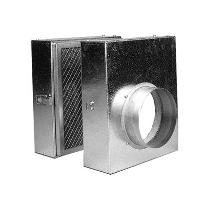 NATHER-Caisson filtrant CF160 pour récupérateur d'air chaud, s'utilise en complément du récupérateur de chaleur DIFUZAIR D820   Ø de raccordement 160 mm . 150x150px