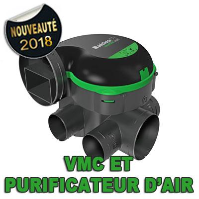 ALDES-Groupe seul EasyHome PureAir classic. Fonction ventilation et purification d'air,à installer en combles perdus. 150x150px