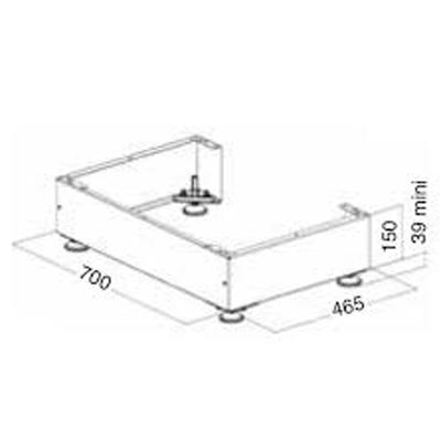 Unelvent - Pieds réglables pour support sol idéo 450 ( les 4) KIT 4 AF  150x150px