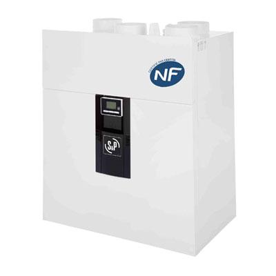 UNELVENT - Centrale VMC double flux IDEO 325 ECOWATT FL. Basse consommation. Garantie 3 ans. Maison jusqu'à 250 m2 150x150px